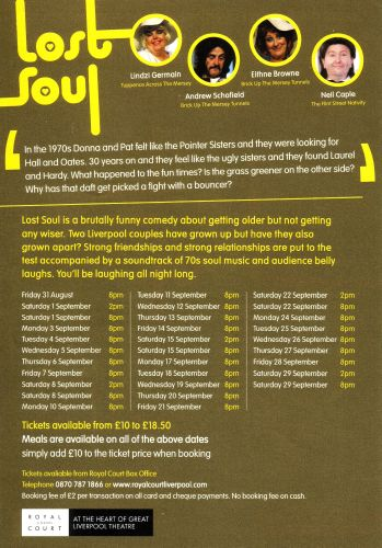 Back of the publicity flyer